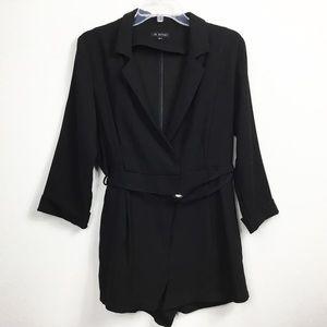 046c1c8678e9 In Style Tuxedo Style Open Neck Romper